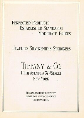 1910s Original Vintage Tiffany & Co New York Print Ad l