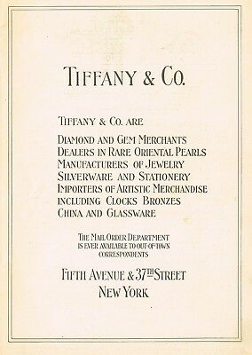 1910s Original Vintage Tiffany & Co New York Print Ad m