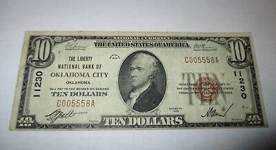 $10 1929 Oklahoma City Oklahoma OK National Currency Bank Note Bill #11230 VF!