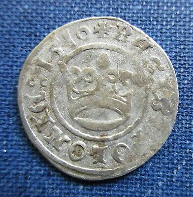 """Poland 1510 1/2 Half Gros Grosz Sigmund I """"the Old"""" - Early Dated Polish Coin"""