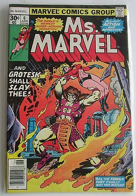 Ms. Marvel  # 6 Bronze Age Marvel Comic, Photos Show Great Condition