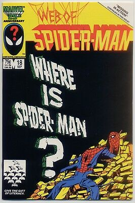 Web of Spider-Man 18 NM- 9.2 1st appearance of Venom in comics!