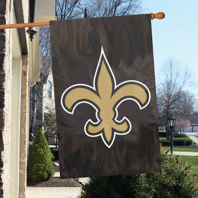 New Orleans Saints Applique Embroidered 2Sided House Flag Indoor Outdoor Nylon