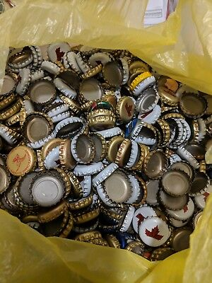 100 Mixed Beer Bottle Caps Lot of Used but Clean Caps with No Dents
