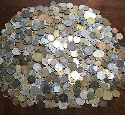 Lot Of ** 9.1 Lbs.** Foreign / World Coins Great Mix!! HUGE PILE!!