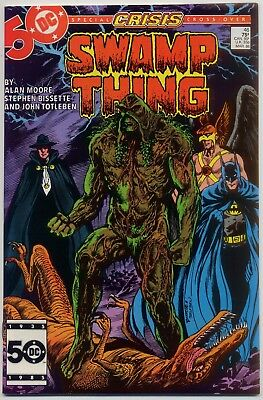 Swamp Thing 46 NM 9.4 Alan Moore, Crisis on Infinite Earths Crossover issue
