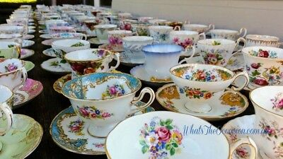 Luxury Quality Vintage China High Tea Hire Business Antique Wedding Stylist