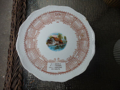 1908 Collector Plate, P. A. Kreger, Kingwood, Pa.
