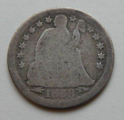 1853 Seated Liberty Dime ~  Silver Coin  ~ Arrows