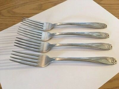 1847 Rogers bros IS Daffodil pattern (4) Dinner Forks
