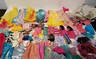 Barbie Doll Clothes Huge lot of 71 pieces Dresses, Skirts Shirts Pants Swimsuits