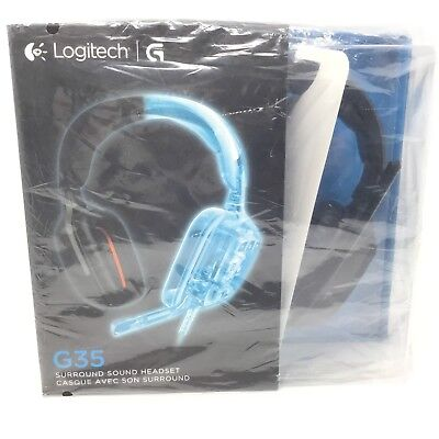 Brand New Logitech G35 7.1 Channel Surround Sound Gaming Headset Video Game Mic
