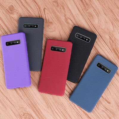 For Samsung Galaxy S10 S9 A20E A50 A70 Shockproof Sandstone Slim Soft Case Cover
