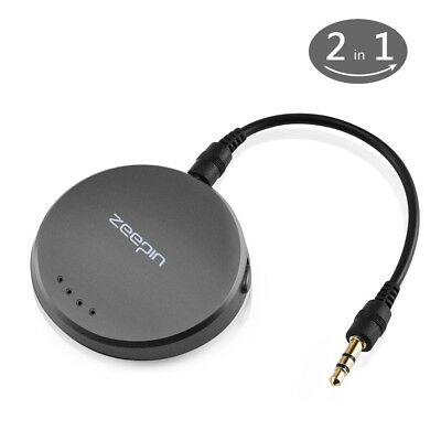 Wireless Bluetooth Audio Stereo Music Home Car Transmitter 3.5mm AUX Speaker NEW
