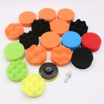 12/19X Polishing Sponge Waxing Buffing Pad Compound Auto Car Polisher Drill