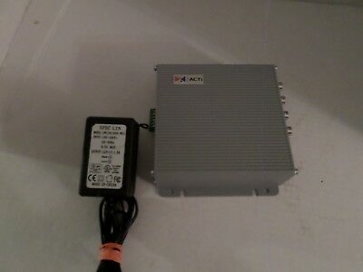 ACTi ACD-2000Q 4 channel Quad Processor Integrated Video Server w two way audio