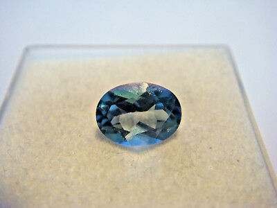 Mystic Blue Topaz Oval Cut Gemstone 8mm x 6mm 1.5 carat unique Gem