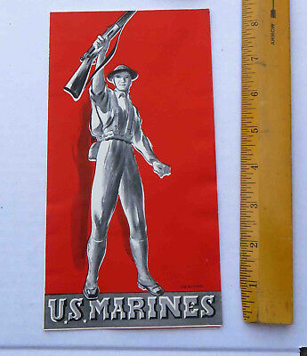 Original WW2 c 1941 US Marines  Recruitment Brochure