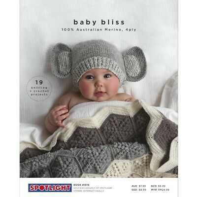 NEW Baby Bliss Merino Pattern Book By Spotlight