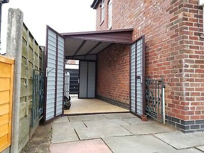 Lean To Extension Any Size House Business Storage Bike Secure Garage Motorcycle