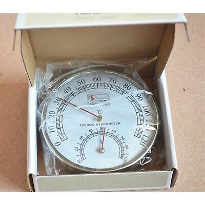 Sauna Thermometer Accessories Stainless Steel Temperature Humidity Hygrometer