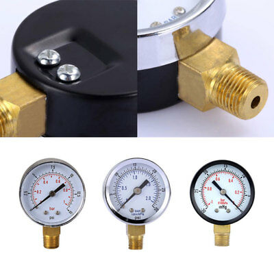 NEW Stainless Steel Hydraulic Liquid Filled Pressure Gauge 0-30 PSI 0-2bar ULT