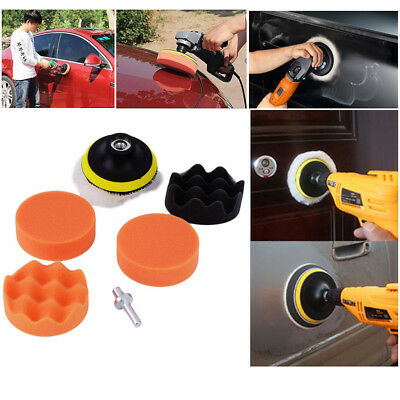 3 High Gross Polish Polishing Buffer Pad Kit With Drill Adapter For Car Polisher