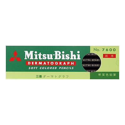 Mitsubishi Pencil pencil oily grease pencil No.7600 black K7600.24 dozen