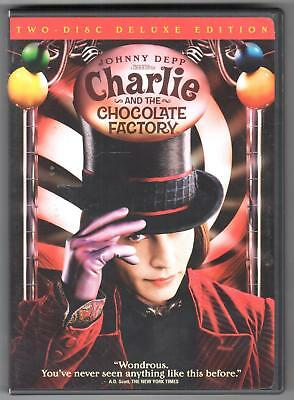 Charlie and the Chocolate Factory DVD 2005 2-Disc Set Widescreen Deluxe Edition