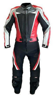 Leather Suit as Two Piece in Red Black Two Piece 46 50 52 56 Leather Suit