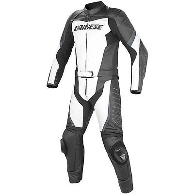 Dainese Racing Div Leather Suit Lady Ladies Two Piece Black White Size 38 40