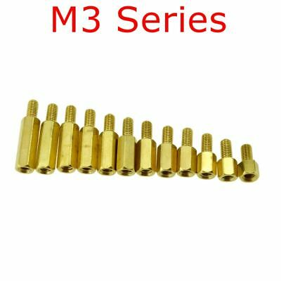 M3*L+6mm Brass Threaded Pillar PCB Computer PC Motherboard Standoff Spacers