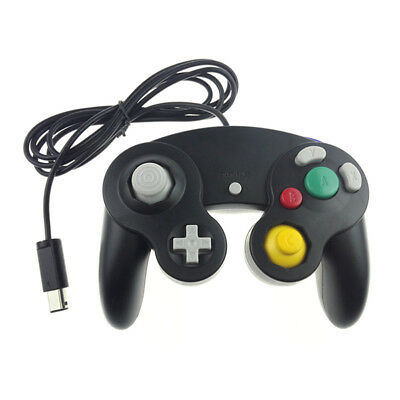 Wired Shock Black Game Controller For Nintendo Gamecube GC Wii Video Game