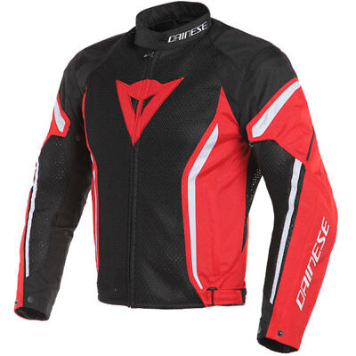 Dainese Air Crono 2 Textile Motorcycle Jacket - Black / Red / White