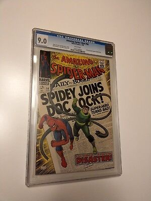Amazing Spider-Man 56 (Jan 1968, Marvel) CGC 9.0 VF/NM 1st Captain Stacy!