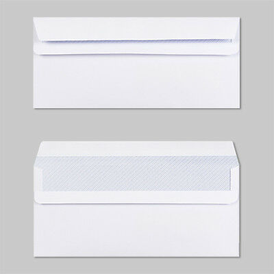 2000 White DL 80gsm White Envelopes, Self Seal Plain, NO window