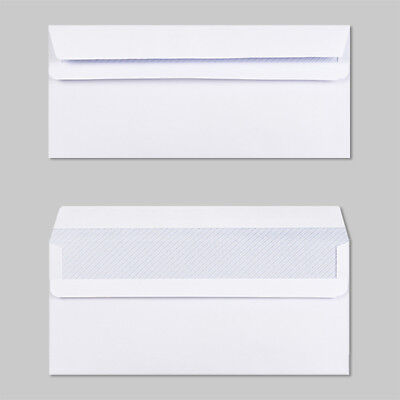 5000 White DL 80gsm White Envelopes, Self Seal Plain, NO window