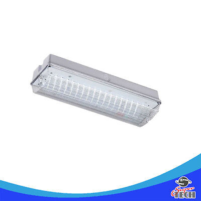 3W LED Emergency Safety Bulkhead Non Maintained IP65 UK Seller