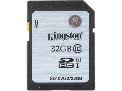 Kingston 32GB SDHC Memory Card Class 10 45MB/s UHS-I Fast Speed SD Card Genuine