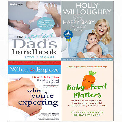 Expectant Dad's Hand 4books collection set Truly Happy Baby Food Matters NEW UK