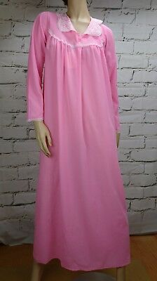 Vintage Nightie Negligee Nightdress Pink Size M Pedita Long Sleeve Full length