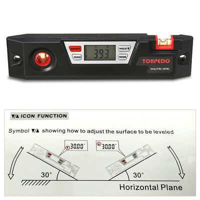 Large Digital Angle Gauge LCD screen Measuring Tool Inclinometer Spirit Level
