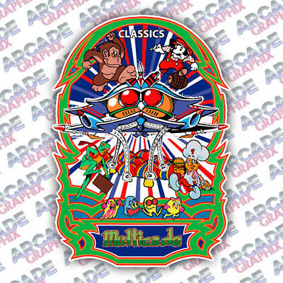 Multicade Galaga Series Arcade Cabinet Game Graphic Artwork Sideart