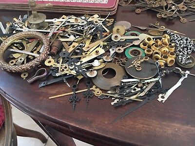 Antique Large Lot Clock Hands And Spares