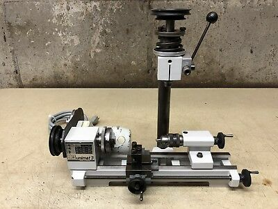 EMCO Unimat 3 Mini Lathe with 3 Jaw Chuck, Milling and Fine Feed Attachment
