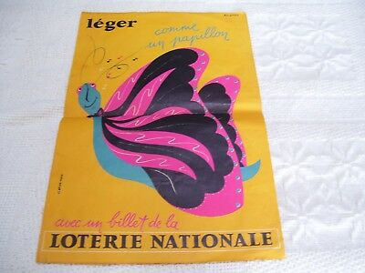 affiche ancienne loterie nationale 1955:56