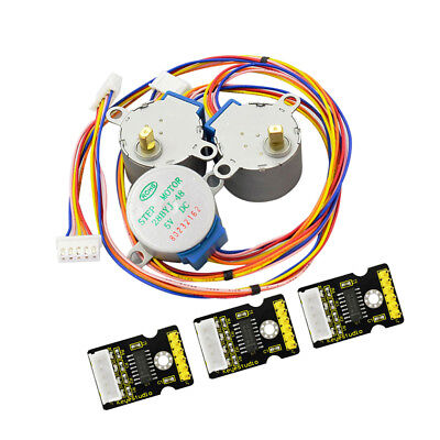 3pcs 28BYJ-48 ULN2003 5V Stepper Motor + ULN2003 Driver Board for Arduino