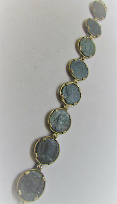 Beautiful Modern Bracelet With Authentic Roman Coin Inserts