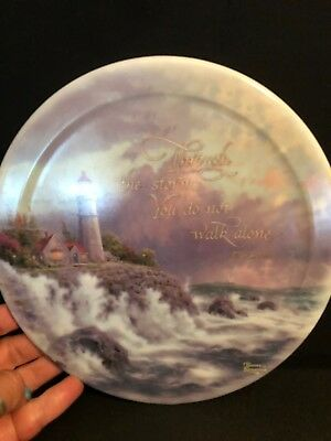 Thomas Kinkade CONQUERING THE STORM #1 of Have Faith collectors Hanging Plate