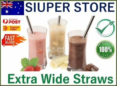 Extra Wide Eco Stainless Steel Drinking Straws Metal Smoothie Straw Bubble Tea